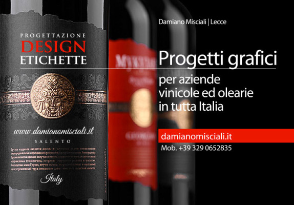 etichette vino olio 574x400 Damiano Misciali   grafico pubblicitario