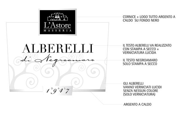alberelli Progetto grafico etichette vino LAstore   Cutrofiano (Le)