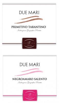 duemari 231x400 Design grafica etichette vino   Cantine Pliniana (Ta)