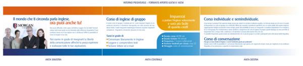 pieghevole economico 600x131 Progetto grafico pieghevoli   Morgan School (Casarano)