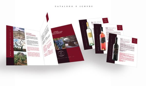 progettazione cataloghi 600x355 Progetto grafico catalogo cantina   Cantine Pliniana (Ta)