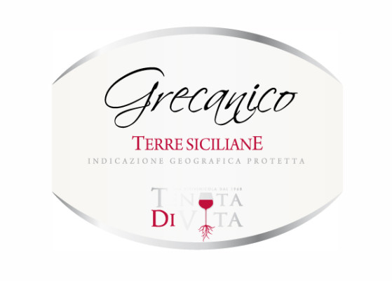 etichetta grecanico 559x400 Grafica etichette vino   Tenuta di vita   Trapani