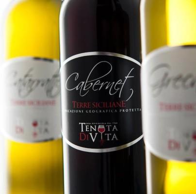 etichette vino 404x400 Grafica etichette vino   Tenuta di vita   Trapani