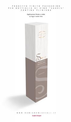 packagingperbottiglia 233x400 Grafica packaging per bottiglia di vino   Cantina Pliniana   Manduria (Ta)