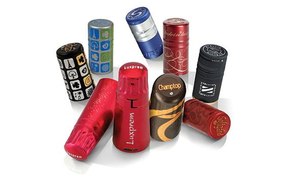 grafica capsule Capsule per bottiglia e lestetica