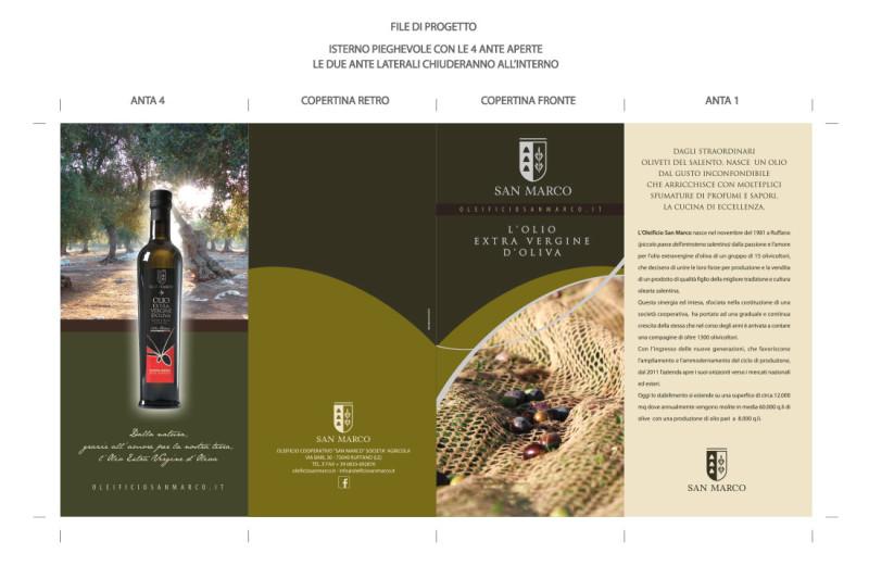 design pieghevole 800x521 Grafica pieghevole   Oleificio San Marco   Ruffano (Le)
