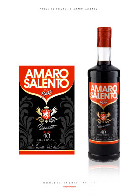 grafica etichetta amaro 283x400 Grafica etichetta Amaro Salento    (Le)