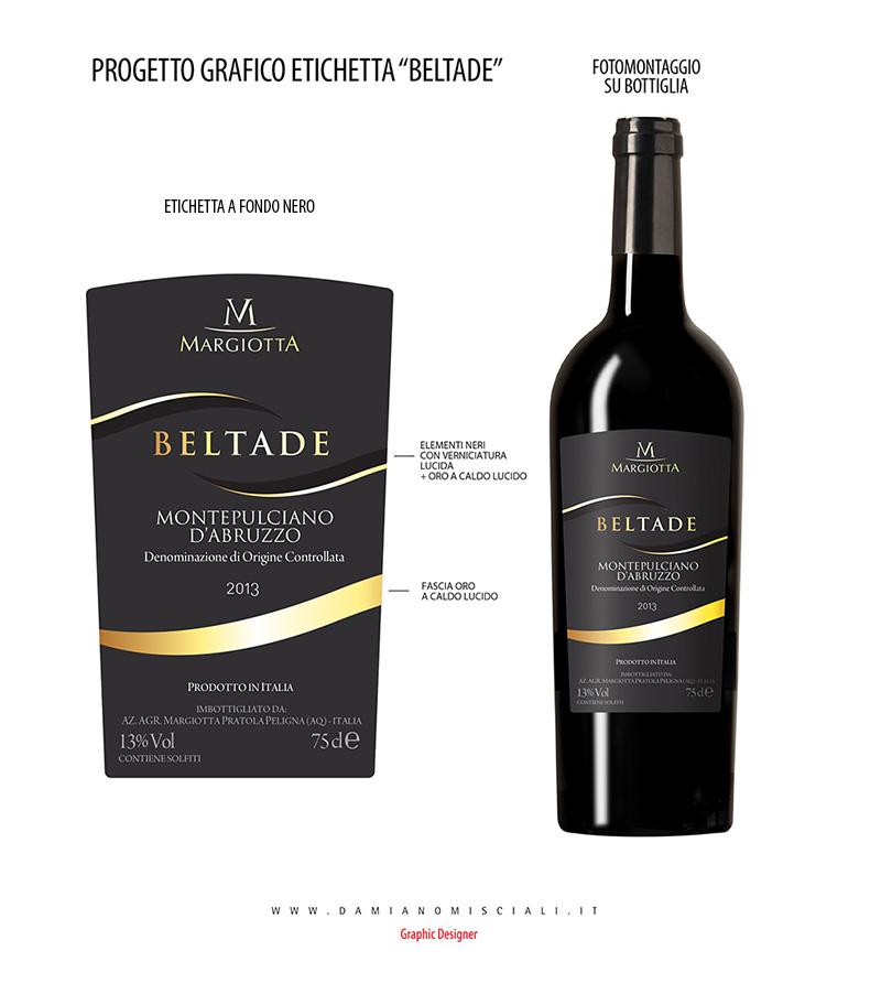 Conosciuto Grafica etichette per bottiglia troncoconica montepulciano AG97