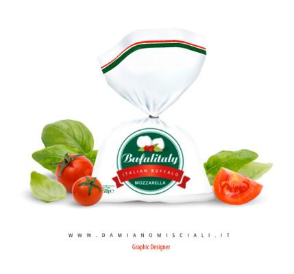 grafica mozzarella1 429x400 Creazione marchio mozzarella di bufala (Campania)