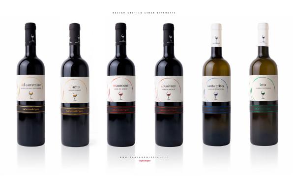 creazione linea etichette 600x358 Creazione linea di etichette vino   Le Cantine di Figaro   (Ap)