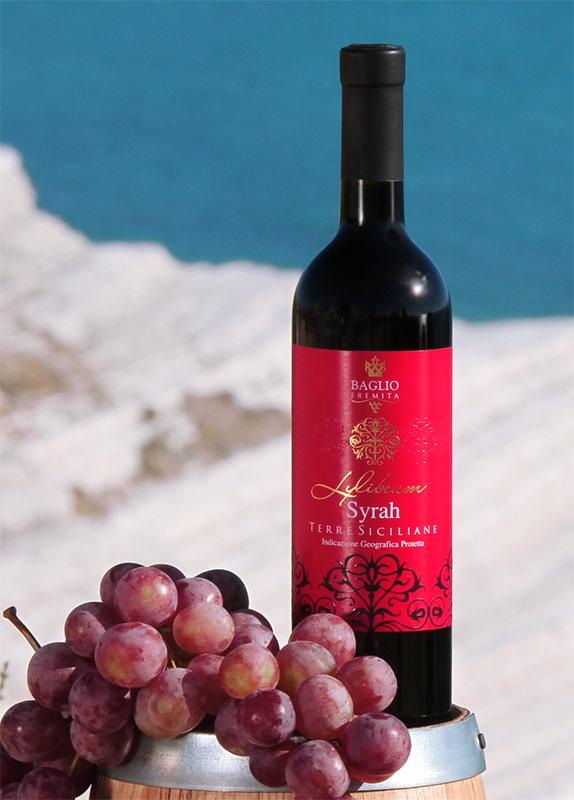 etichetta syrah  Baglio Eremita   Etichetta vino Syrah Terre Siciliane