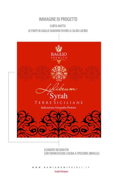 progettare etichetta 384x600 Baglio Eremita   Etichetta vino Syrah Terre Siciliane