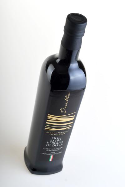 etichetta moderna 400x600 Grafica etichetta olio Duetto   La Sallentina