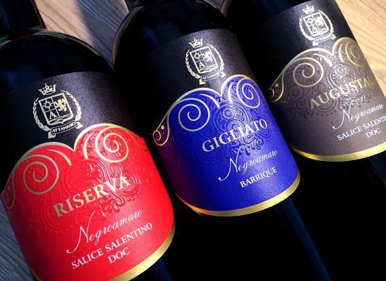 design etichette vino 549x400 Design linea etichette   Cantina Attansio