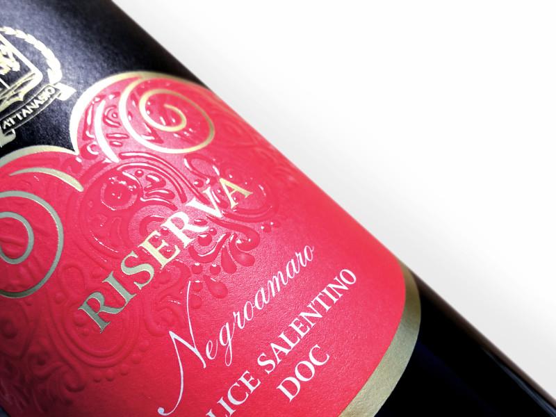 grafica etichette vino1 800x600 Design linea etichette   Cantina Attansio