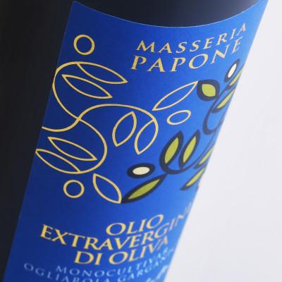 etichetta bella 400x400 Design etichetta Olio   Masseria Papone