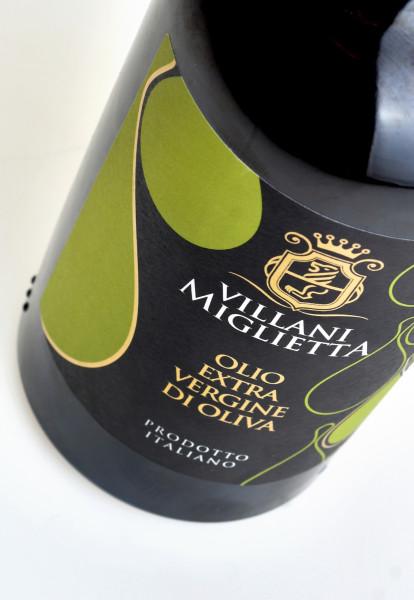 etichette design 414x600 Progetto grafico etichetta olio   Villani Miglietta