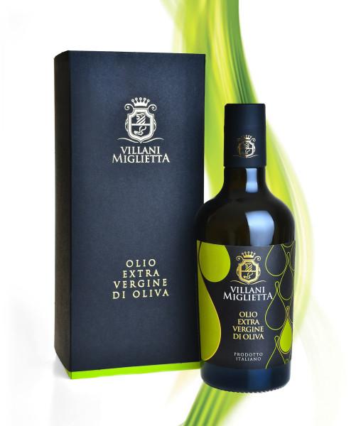 packaging olio misciali 501x600 Progetto grafico etichetta olio   Villani Miglietta