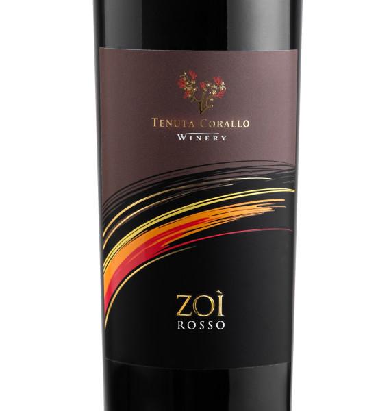 etichetta rosso 571x600 Design etichetta vino rosso   Tenuta Corallo