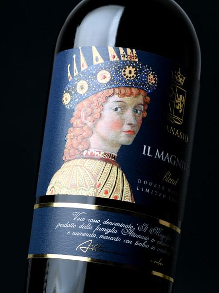 etichetta pregiata 450x600 Design etichetta vino Il Magnifico – Cantina Attanasio