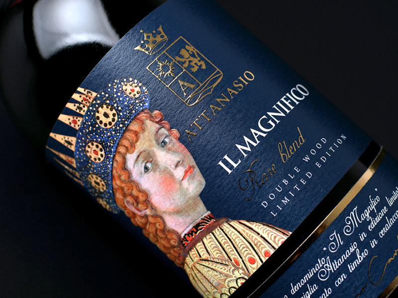 etichetta storica 800x600 Design etichetta vino Il Magnifico – Cantina Attanasio