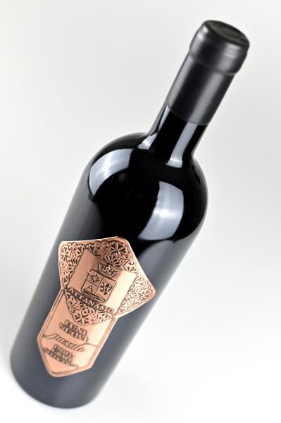 etichetta metallo3 399x600 Design etichetta vino   Lune Nuove   Cantina Attanasio