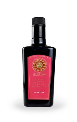 bottiglia olio rossa 252x400 Design etichetta olio   Martino