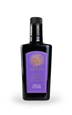 bottiglia olio viola 252x400 Design etichetta olio   Martino