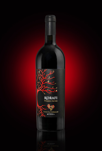etichetta primitivo 406x600 Grafica etichetta vino primitivo   Korafi  Tenuta Corallo