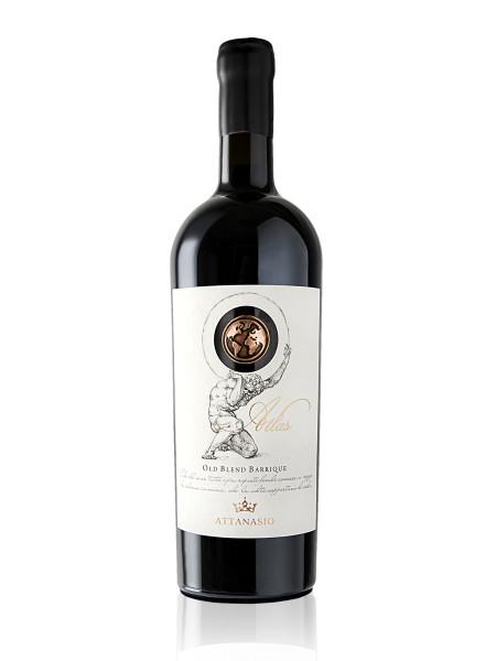etichetta classica 450x600 Design Etichetta vino   Atlas   Cantina Attanasio