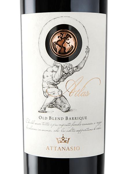 etichetta con foro 450x600 Design Etichetta vino   Atlas   Cantina Attanasio