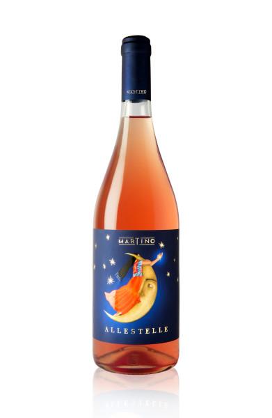 etichetta voino rosato 391x600 Grafica etichetta vino rosato   Allestelle   Tenuta Martino