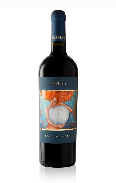 grafica etichetta vino 382x600 Grafica etichetta vino rosso   Dolci Memorie   Tenute Martino